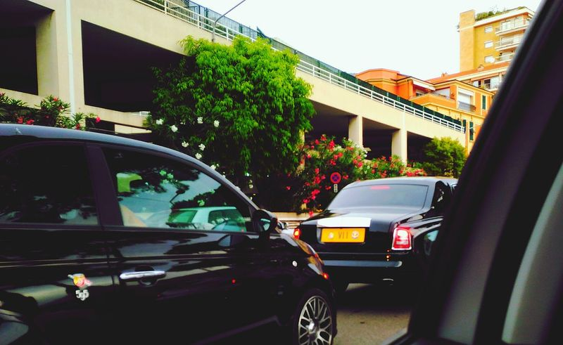 Cars City Monaco Monacomontecarlo Prince  Roll Royce Black Car Reflections Vacations First Eyeem Photo