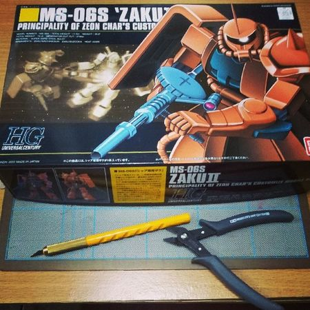 Ready for second Gunpla...Gunpla Gundam Zaku Zeon Char