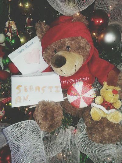 2de mis ahijadoa ya han dejado su carta en el arbol.... Enjoying Life Navidad Feliz Navidad