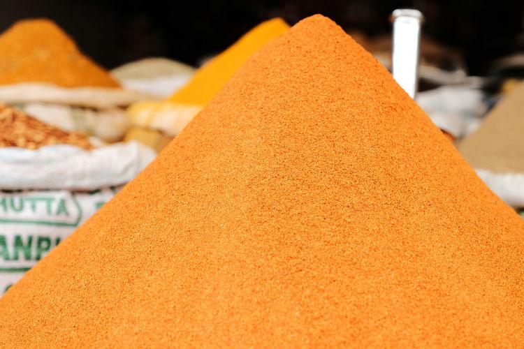 Close-up of orange for sale in market