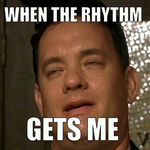 The rhythm is going to get you. Gloriaestefan Tomhanks Otmshank Therhythm