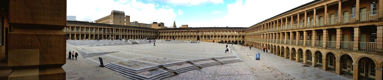 Piece hall halifax Cloud - Sky Built Structure Building Exterior Architecture Sky Day People City Panoramic Outdoors Historical Building Historical Site Cloth Hall Handloom Weaving