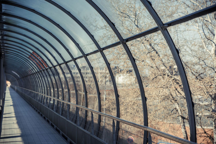 Glass Tunnel On Sunny Day