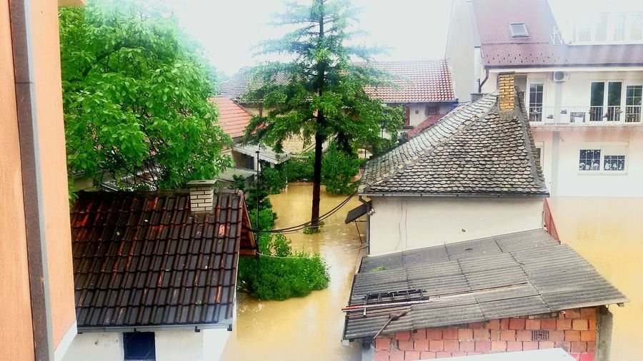 From The Rooftop Obrenovac Flood May_16th Serbia_Obrenovac Flood2014 Houses Water 🌊🌊🌊