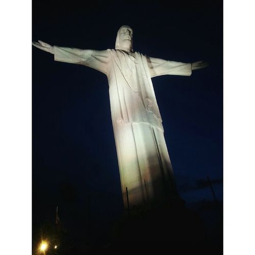 Cristo Rey Statue Religion Sculpture Human Representation No People Spirituality Cross Day First Eyeem Photo