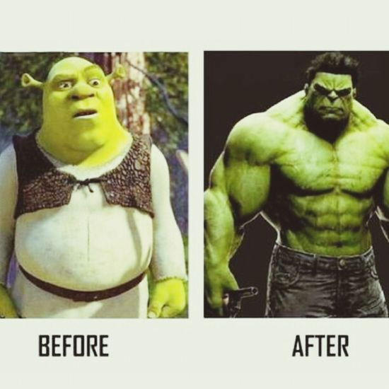Workout Funny Hulk Shrek