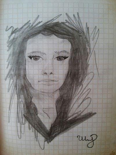 женщина рисунок карандашом Sketchbook by Ann