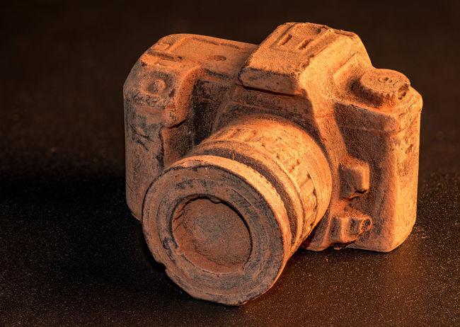 Camera Chocolate Food Macro Macro Photography Closeup Focus Stacking EyeEm Selects Stack Black Background Close-up