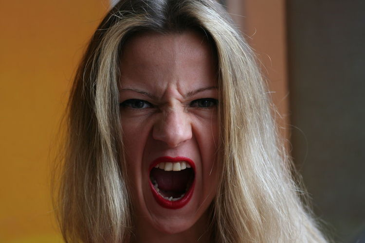 Adult Anger Blond Hair Close-up Day Furious Human Body Part Human Face Indoors  Mouth Open Negative Emotion One Person One Young Woman Only People Real People Screaming Shouting The Portraitist - 2017 EyeEm Awards Women Young Adult Young Women
