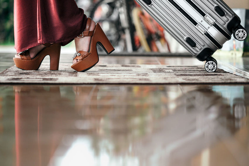 Be. Ready. Departing On The Way Step It Up Travel Bag Baggage Close-up Human Leg Low Section Luggage On My Way Shoes One Step Forward Fashion Stories
