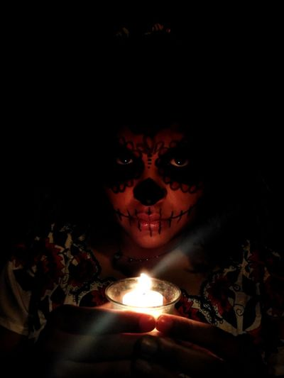 Hanalpixan Human Hand Black Background Spooky Evil Flame Burning Mystery Glowing Close-up