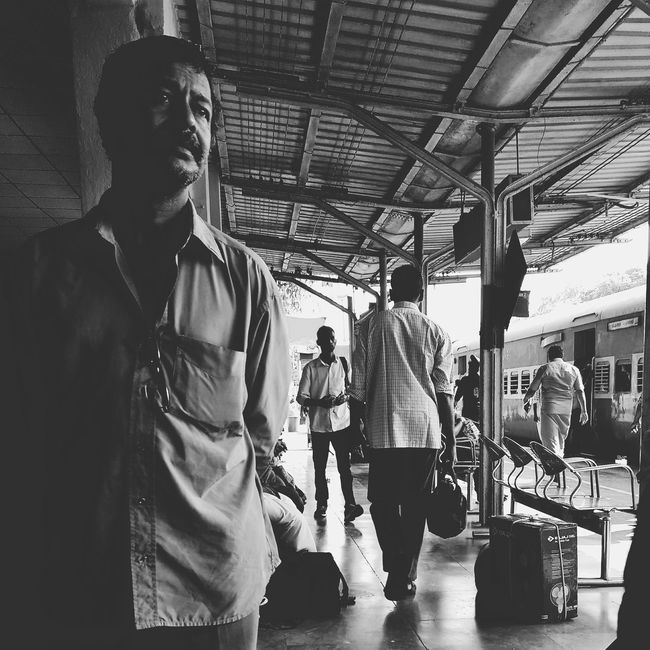 Thalassery Railway Station Minimal Railway IndianphotographerAdults Only Indianrailways Indianrailwaysdiaries Waist Up Mature Adult Indoors  Arts Culture And Entertainment Leisure Activity Men Mature Men Adult Only Men People One Person Young Adult Smiling One Man Only Day