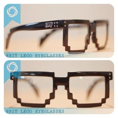 8bit lego eyeglasses ! 08990125182 / 237EDE37 to order. Available on black and dark blue! Grab fast Flattop Eyewear Sunglasses 8bit lego