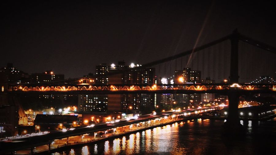 Bridge Bridges Bridges At Night Night Lights Buildings At Night Night Photography Night View Night City New York New York City Learn & Shoot: After Dark New York Architecture Water Reflections Reflections In The Water Light Reflection Reflection Water Reflection In The Water Brookylnbridge Brooklyn Bridge / New York Brooklyn Bridge  Brooklyn Bridge At Night Brooklyn Bridge New York Brooklyn Bridge In New York Battle Of The Cities Welcome To Black