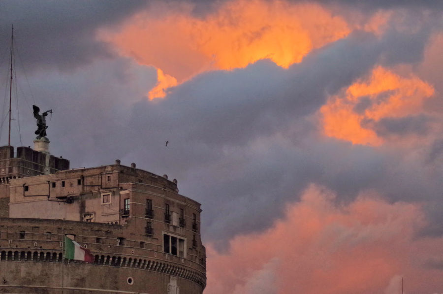 sunset on saint angel castle Architecture Building Exterior Built Structure City Cloud - Sky Dusk Dusk Clouds Dusk Colours No People Outdoors Saint Angel Castle Sky Sunset Your Ticket To Europe Colour Your Horizn