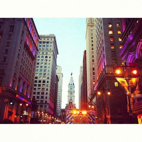 South Broad Street #philly #cityhall #williampenn #philadelphia #evening #camera+ #cities Camera Evening Philadelphia Cities Cityhall Philly Williampenn