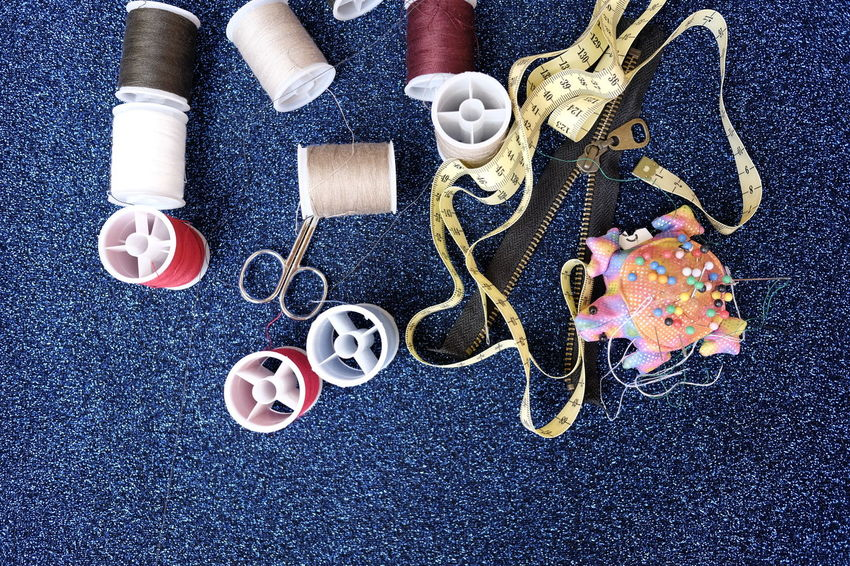 Scissors Sewing Tailor Tailoring Bobbins Brooches Sewing Item Tape Measure Tools