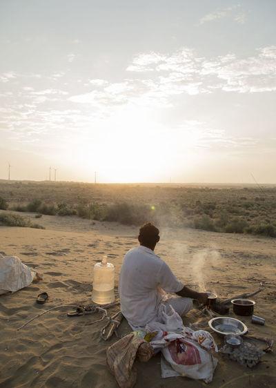 Beduines Bonfire Connected By Travel Desert Light Lost In The Landscape NOMAD Eating Landscape Men Nature Outdoors Sitting Sky Sunrise Camp