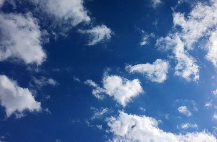 昨日のソラ♡ ハートの雲💭 みつけたょ❤ ハピハピな 気持ちになったじょ(≧◡≦) 青空 笑顔 繋がるソラ キミに届け Blue Sky Smile With You Thank You Today Heart