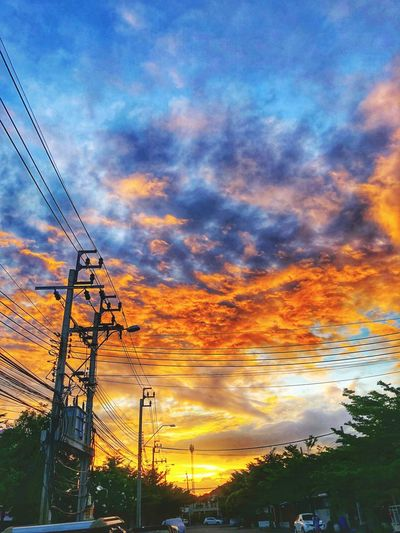 End of the day Thailand Sky Sunset Cloud - Sky Orange Color Beauty In Nature Nature Scenics - Nature
