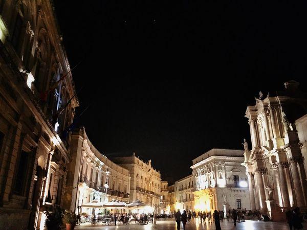 Places City Ortigia Sicily EyeEm Best Shots Great Atmosphere Taking Photos Nightphotography Walking Around The City  Architecture Ortigia By Night Duomo - Ortigia