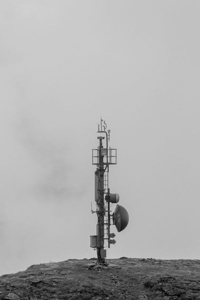 Antenna Cell Phone Tower Cellular Device Copy Space Day Exploration Funkturm Man Made Object Outdoors Sendemast Sky Technik  Technology Tower Industrial Blackandwhite Black And White Black & White Blackandwhite Photography Black And White Collection