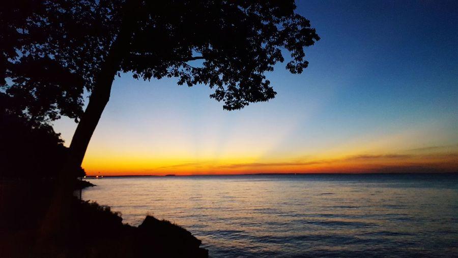 sunset, just on