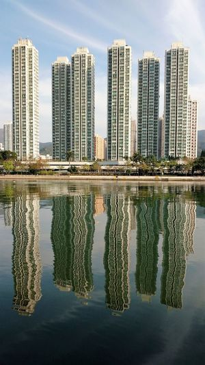 High Density Housing New Territories Reflection Residential District Riverside Sha Tin Shing Mun River Tall Water Waterfront Adapted To The City Neighborhood Map