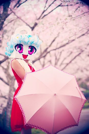 Sakura Pink Color Nature One Person Cute Pretty Portrait Outdoors Cherry Blossom Cherry Pop Culture Character Sasebo Japan Photography Japan Sanasenabona Pink Flower Umbrella Sakura Sakura Blossom Sakuracollection