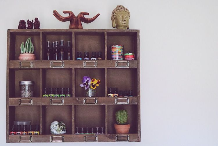 EyeEm Gallery Home Decor EyeEm Popular Photos Home Photooftheday Essential Oils Shelf No People Indoors  Decoration Arrangement Variation Home Interior Wood - Material