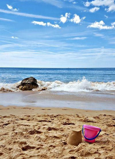 Beach Sea Horizon Over Water Sand Water Blue Wave Scenics Vacations Nature Algarve Algarve Beach Algarve Portugal Sandcastles