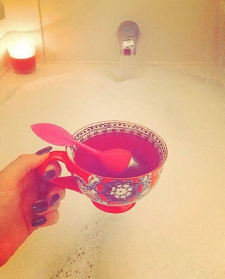 Always Be Cozy Tea Bubblebaths Nail Polish Candle Dimlights Home Comfort Teacups