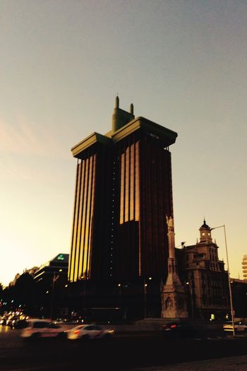 While in Madrid... SPAIN Madrid Colon Architecture Tower Evening