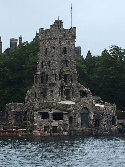 Architecture Built Structure History Building Exterior Flag Low Angle View Day No People Travel Destinations Outdoors Place Of Worship Tree Sky Boathouse Boldt Castle