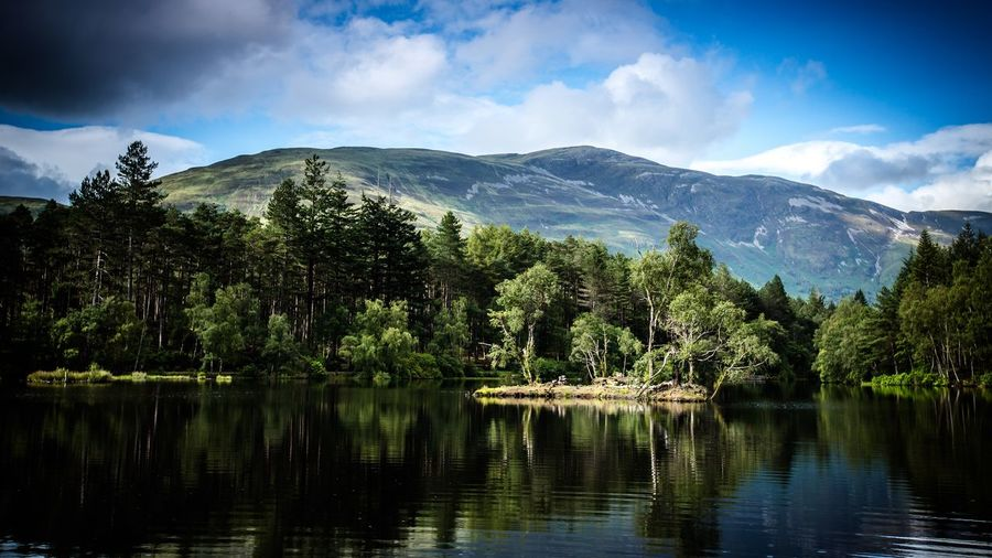 Glencoe Lochan Scotland Glencoe Lochan Glencoe Loch  Lake Water Tree Sky Plant Cloud - Sky Beauty In Nature Lake Mountain Reflection Tranquility Scenics - Nature Tranquil Scene Non-urban Scene No People Idyllic Day Outdoors