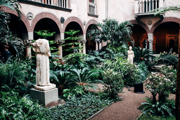 Isabella Stuart Gardner Museum Arch Architecture Day Growth Nature No People Outdoors Plant Tree