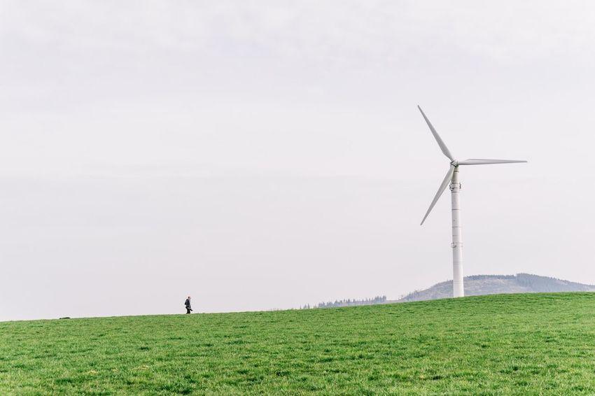 Working Windrad Minimalism Minimalobsession Nature Green Wind , in Sauerland Germany