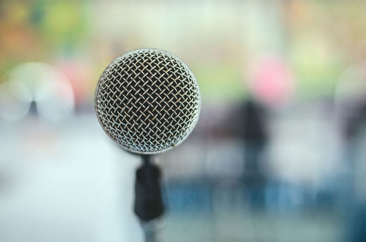Conference Microphone Describe Educate Loudness Close-up Communication Cultivate Electrical Equipment Equipment Focus On Foreground Indoors  Input Device Metal Microphone Microphone Stand Music Performance Selective Focus Silver Colored Single Object Speak Speech Technology Train Training Time Volume