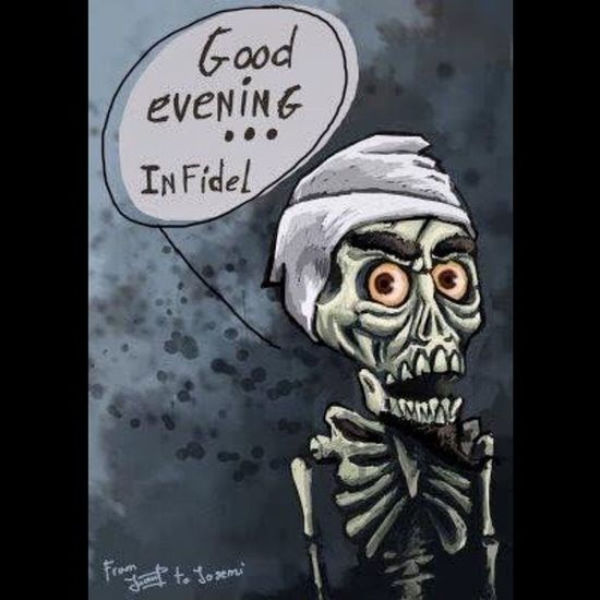 Infidel#good#evening#ahmed#the#deadly#terrorist#funny#joke#comedian#skull