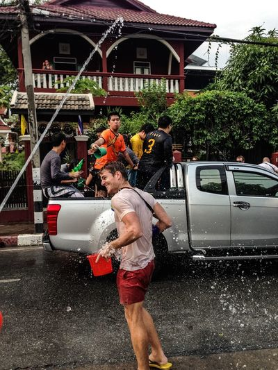Q Quench my thirst! One way to get your daily water intake. Songkran Festival Getting Wet Water Drink Up Thirsty  Take That Splash Spray Party Showcase March Spotted In Thailand Chiang Mai   Thailand Chiang Mai Up Close Street Photography Connected By Travel