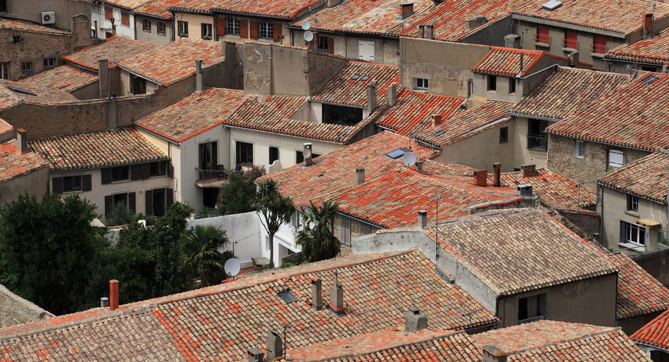 Roofs Carcassonne Cityscape Travel Architecture Brown Building Building Exterior Buildings Built Structure City Community Detail Full Frame High Angle View House Human Settlement No People Residential District Roof Roof Tile Town TOWNSCAPE