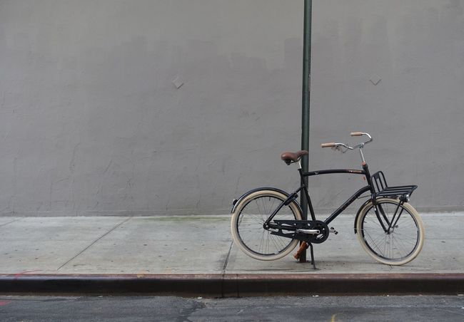 Bicycle Transportation Mode Of Transport No People Land Vehicle Stationary Outdoors Day Wall Abstract Nopeople Nofilter NYC Street Photography NYC Photography EyeEm Best Shots Grey Grey Wall CyclingUnites The Street Photographer - 2017 EyeEm Awards