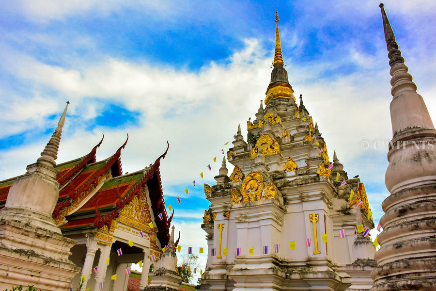 This Chaiya Temple At Suratthani Th. Bhudha Chaiya Thailand Gold Outdoors Religion Statue Suratthani Temple Temple - Building