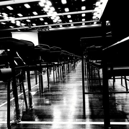 Indoors  No People Day ExamWeek Exam Examination Day Examination Hall Examination Table Black & White B&w Photography Indoors