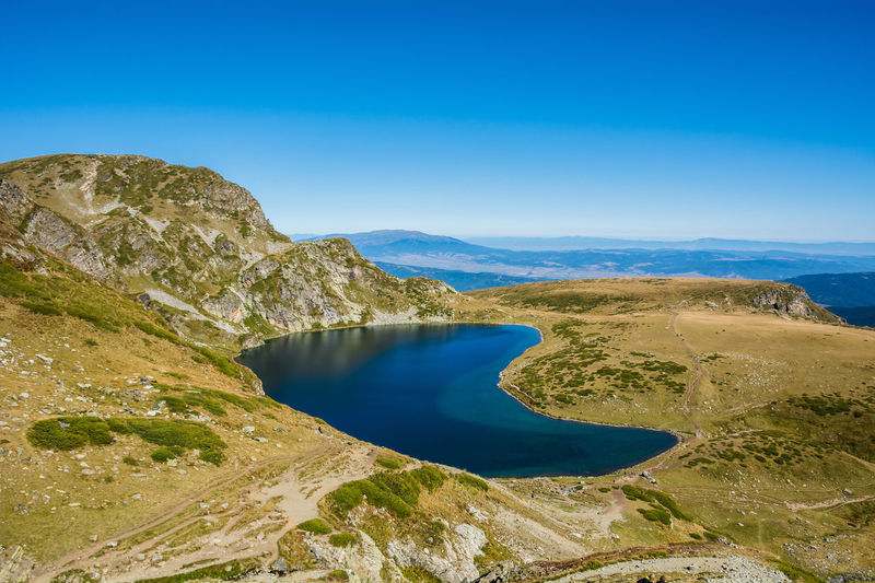 Seven Rila Lakes, Bulgaria The Kidney Бъбрека (Babreka) 2,282 m (7,487 ft) 8.5 ha (21 acres) 28.0 m (91.9 ft) Steepest shores of all Scenics - Nature Water Beauty In Nature Blue Tranquil Scene Tranquility Non-urban Scene Environment Sky No People Nature Lake Day Landscape Mountain Clear Sky Idyllic High Angle View Outdoors Lake View Nature Nature_collection Nature Photography Beauty In Nature Beauty
