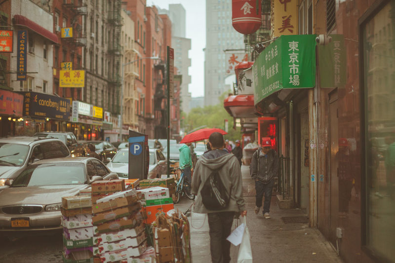 Street In City Chinatown
