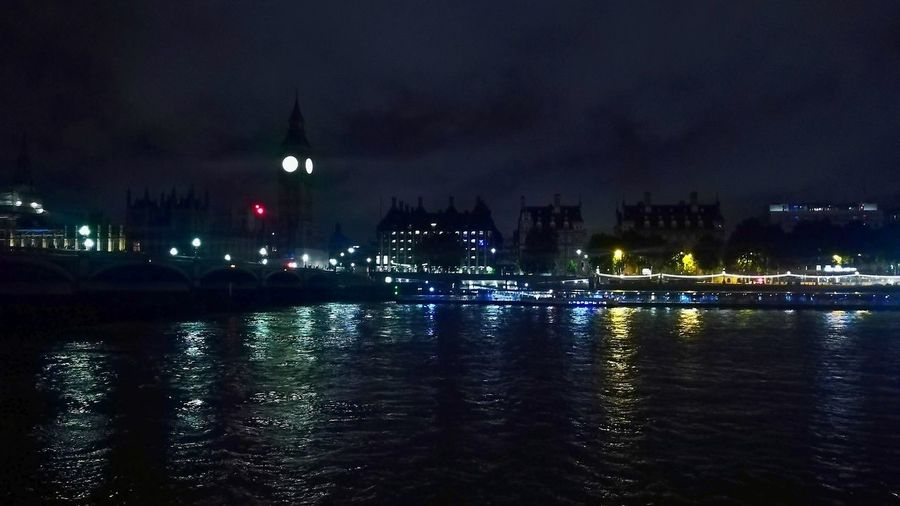 Breathing Space Night Reflection Water Travel Destinations Illuminated No People City Tranquility Architecture Outdoors Sky Building Exterior Urban Skyline Nature Big Ben Thames River Thames River Side