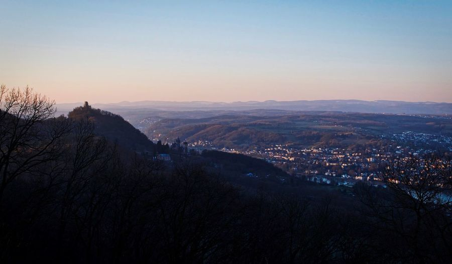 Drachenfels Outdoors No People Mountain Nature Scenics Sunset Architecture Tranquility Beauty In Nature Landscape Clear Sky