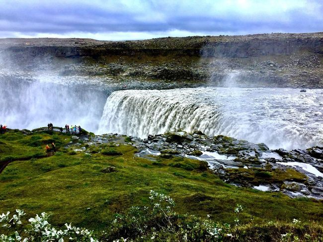 Dettifoss, Iceland Dettifoss Water Beauty In Nature Scenics - Nature Motion Sky Nature Sea Power Power In Nature Plant Waterfall Day Sport Land Splashing Tree Cloud - Sky Flowing Surfing Aquatic Sport