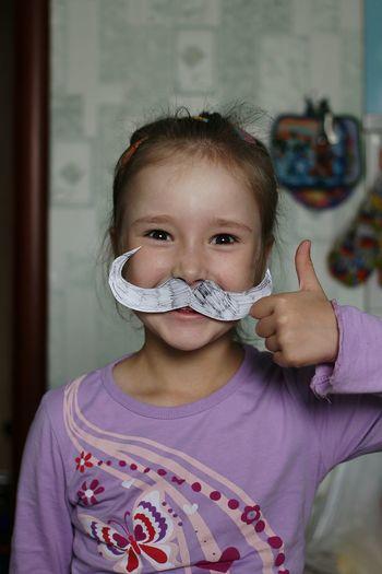 Taking Photos Portrait The Portraitist - 2015 EyeEm Awards Baby Girl Child Mustache Happy Nofilter